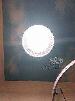натяжной потолок с фотопечатью неба