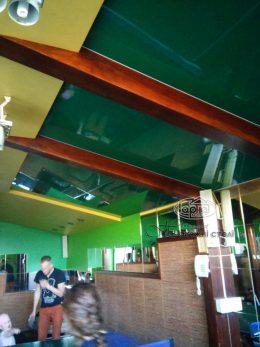 натяжной потолок зеленого цвета в Поддубцах