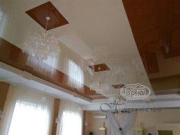 натяжные потолки дизайн квадраты