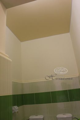 натяжні стелі в туалеті дитячого садка 13