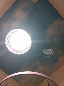 небо рисунок на натяжные потолки