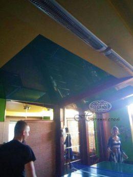 зеленый натяжной потолок в 101 км Пиддубцы