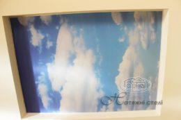 Фотопечать на натяжном потолке небо