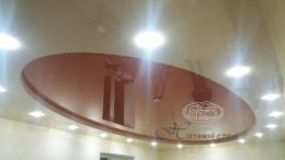 двухуровневые натяжные потолки различной формы