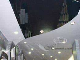 двухуровневые натяжные потолки в клубе опера в Луцке