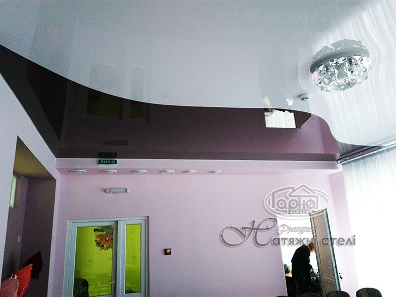 цветной натяжной потолок в садик 41