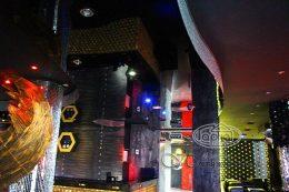 натяжна стеля в диско клубі Опера