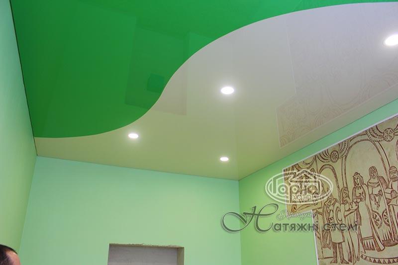 натяжной потолок цветной в колледже