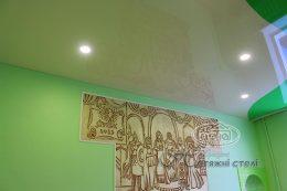 натяжной потолок цвета шампань