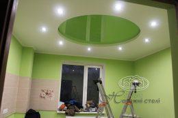 натяжные потолки салатового цвета