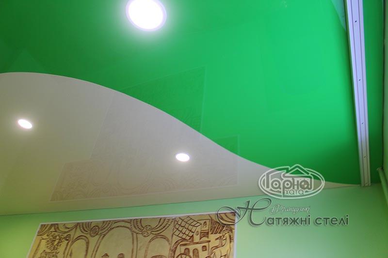 сочетание цветов натяжного потолка