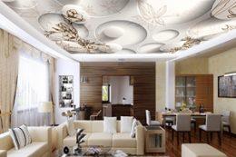 Натяжные потолки 3D с фотопечатью каталог