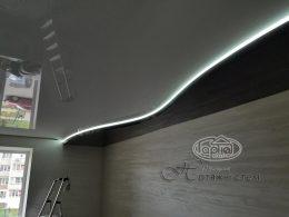 двухуровневый потолок подсветка