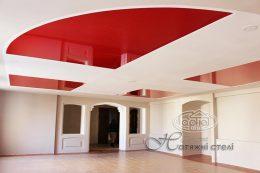 глянцевые потолки красный цвет фото