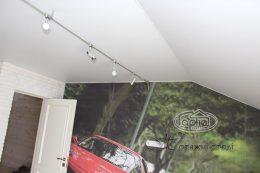 матовый натяжной потолок разной формы