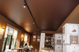 матовые натяжные потолки цвет