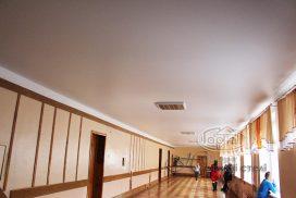 матовые натяжные потолки школа