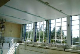 матовые натяжные потолки в бассейне, луцк