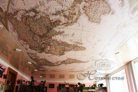матовые натяжные потолки с фотопечатью, карта