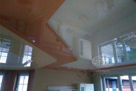 натяжной потолок два уровня