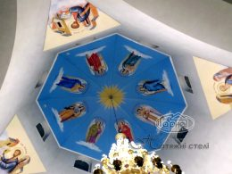 натяжной потолок фотопечать в соборе