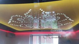 натяжные двухуровневые потолки подсветка