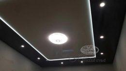 натяжные потолки двухуровневые нишевая подсветка