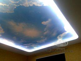 натяжні стелі фотодрук з підсвіткою