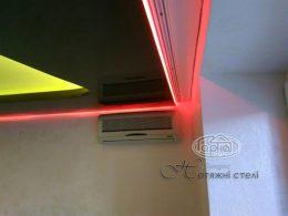 натяжные потолки световые линии