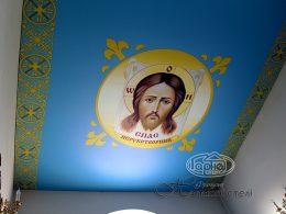 натяжные потолки с фотопечатью церковь