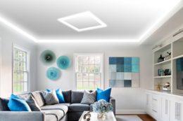 Флаш натяжные потолки (парящий потолок)