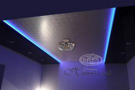декоративные натяжные потолки подсветка