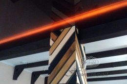 натяжной потолок подсветка цвет