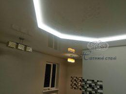 двухуровневый потолок подсветка фото