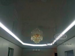 двухуровневые потолки подсветка
