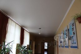 коридор матовые натяжные потолки
