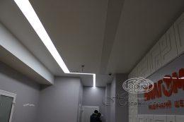 матовый натяжной потолок медицинское учреждение Благомед