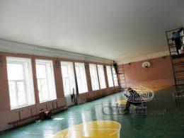 матовый натяжной потолок в большие залы
