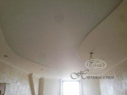 матовый потолок натяжной с гипсокартоном фото
