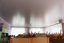 натяжной матовый потолок детский сад