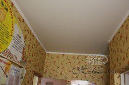 натяжной матовый потолок в учеб заведении