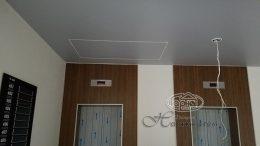 натяжной потолок порез на чердак