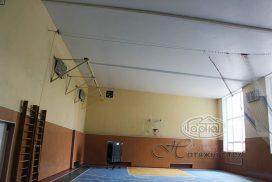 натяжной потолок спортивный зал в школе