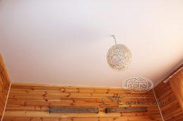простой белый матовый потолок