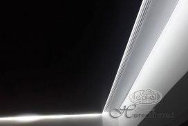парящие натяжные потолки, светодиодная подсветка
