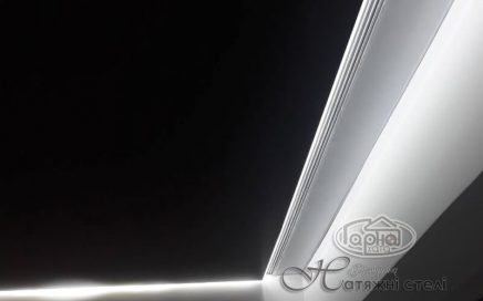 ширяючі натяжні стелі, світлодіодна підсвітка