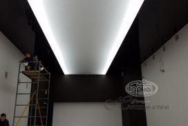 Натяжные потолки двухуровневые подсветка цена