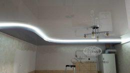 двухуровневый натяжной потолок подсветка цена