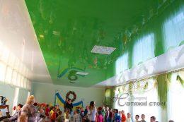 двухуровневый натяжной потолок в два цвета