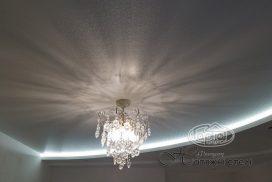 натяжной потолок декоративный и подсветка фото